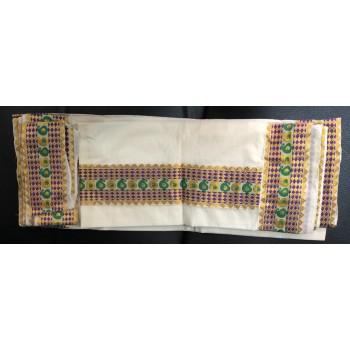 how to wear kerala set mundu saree